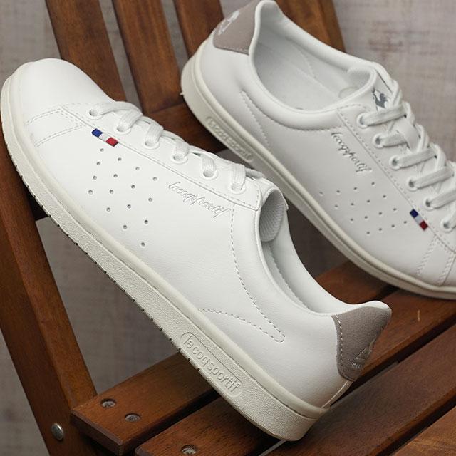 d87af09743a9 le coq sportif Le Coq Sportif Lady s sneakers shoes LA ROLAND SL Loran SL  white   gray (QL1LJC16WG SS18)