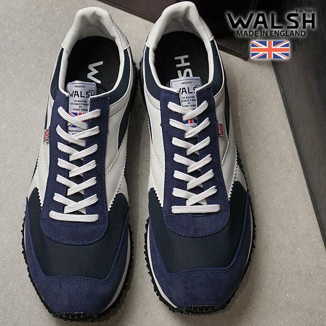 【即納】WALSH ウォルシュ UKメイド スニーカー TORNADE トルネード NAVY/WHITE (TOR01391 SS18)【コンビニ受取対応商品】