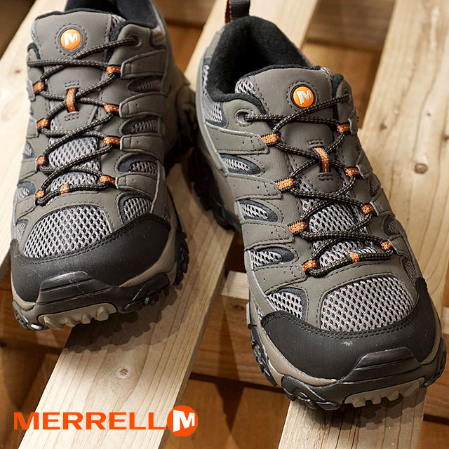3cdd31670a MERRELL メレルメンズスニーカー MEN MOAB2 GORE-TEX WIDE WIDTH Moab 2 Gore-Tex wide Wise  BELUGA (06039W SS18)