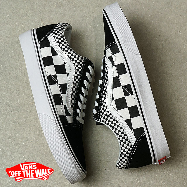 06faeb193895a2 VANS vans men Lady s sneakers Mix Checker Old Skool mixture checker old  school black t. white black   white (VN0A38G1Q9B SS18)