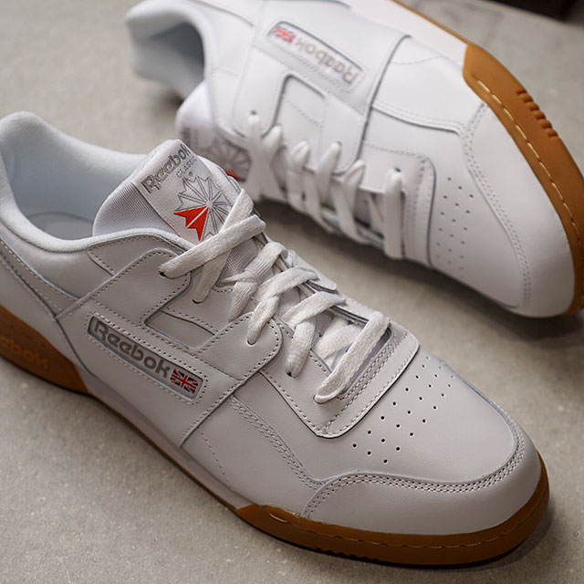 Reebok CLASSIC Reebok classical music sneakers shoes WORKOUT PLUS practice  game plus white   carbon  C red  RR gum (CN2126 SS18) da7fbdbf7