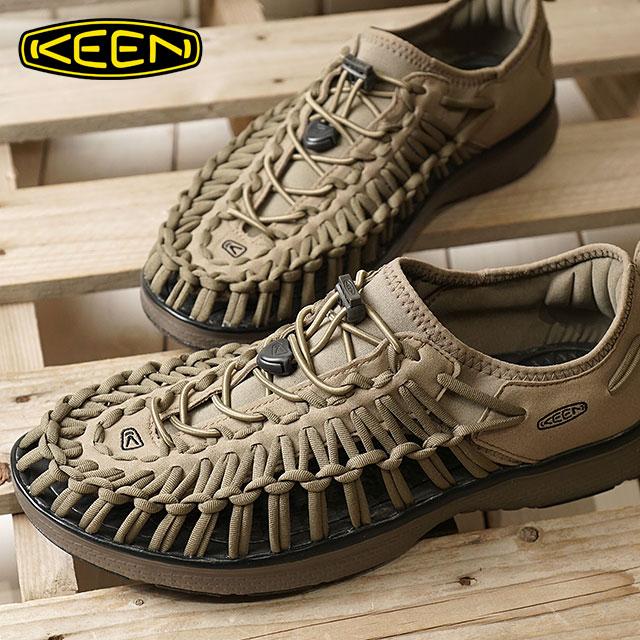 【在庫限り】【限定モデル】KEEN キーン ユニーク スニーカー 靴 サンダル 靴 メンズ M UNEEK O2 ユニーク オーツー BRINDLE/B.CORD (1018710 SS18)【ts】【コンビニ受取対応商品】