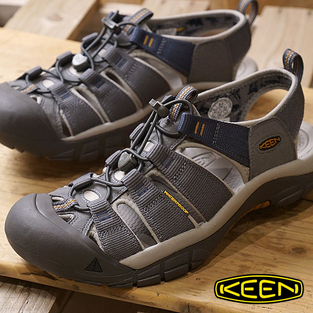 KEEN キーン サンダル 靴 メンズ M NEWPORT HYDRO ニューポート ハイドロ Steel Grey/Paloma (1018816 SS18)【コンビニ受取対応商品】