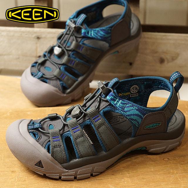 KEEN キーン サンダル 靴 レディース W NEWPORT HYDRO ニューポート ハイドロ Magnet/Surf The Web (1018833 SS18)【e】【ts】