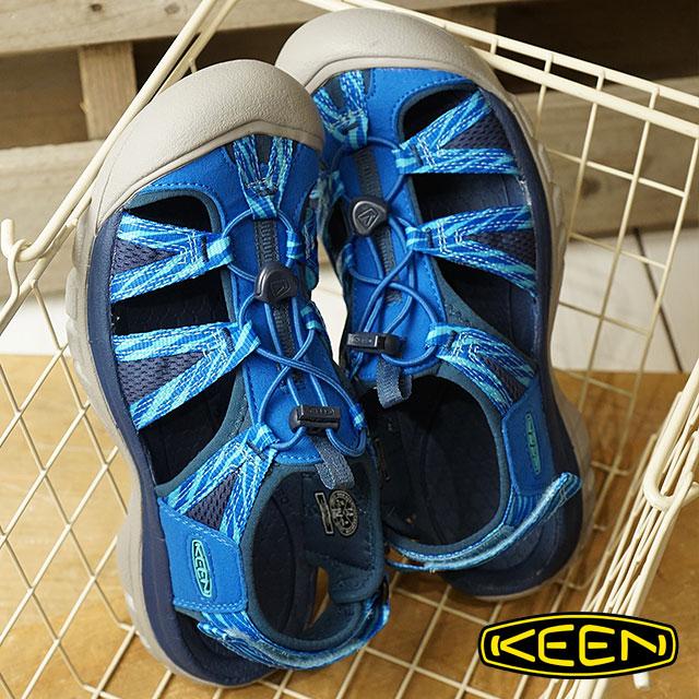 【ラスト1足/23.5cm】KEEN キーン サンダル 靴 レディース W VENICE II H2 ベニス ツー エイチツー Skydiver/Blue Opal (1018852 SS18)【ts】【e】【コンビニ受取対応商品】
