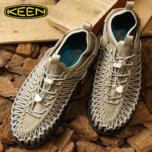 【在庫限り】KEEN キーン ユニーク スニーカー 靴 メンズ M UNEEK HT ユニーク エイチティー Beige/Black (1019284 SS18)【ts】【e】【コンビニ受取対応商品】