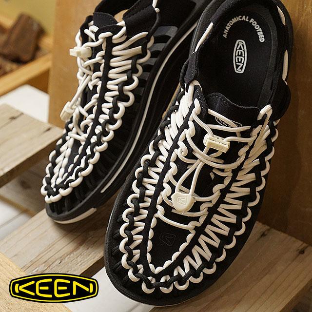 【月間優良ショップ】KEEN キーン ユニーク サンダル 靴 レディース W UNEEK ユニーク Black/White (1019282 SS18)【ts】【e】