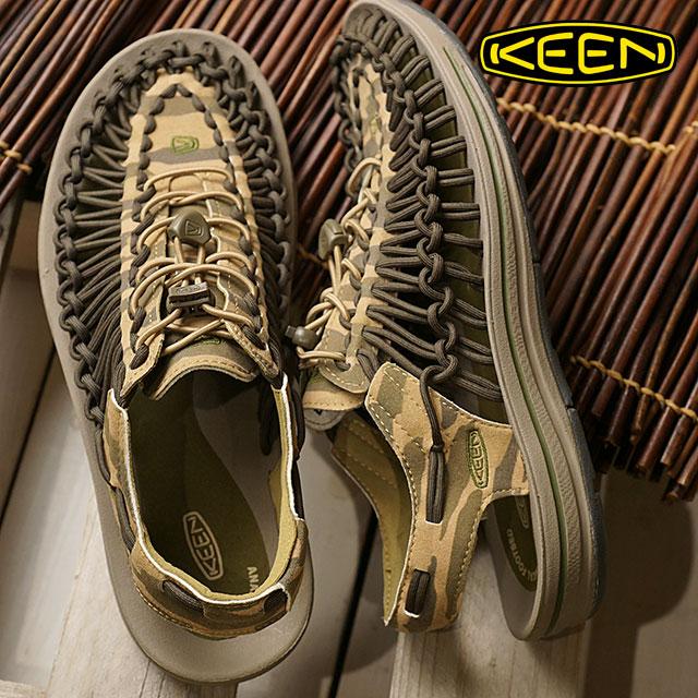 KEEN キーン ユニーク サンダル 靴 メンズ M UNEEK ユニーク Camo/Dark Olive (1018675 SS18)【e】