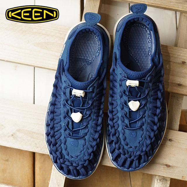 KEEN キーン ユニーク スニーカー 靴 サンダル 靴 レディース W UNEEK O2 ユニーク オーツー E.Blue/H.Gold (1018729 SS18)【コンビニ受取対応商品】