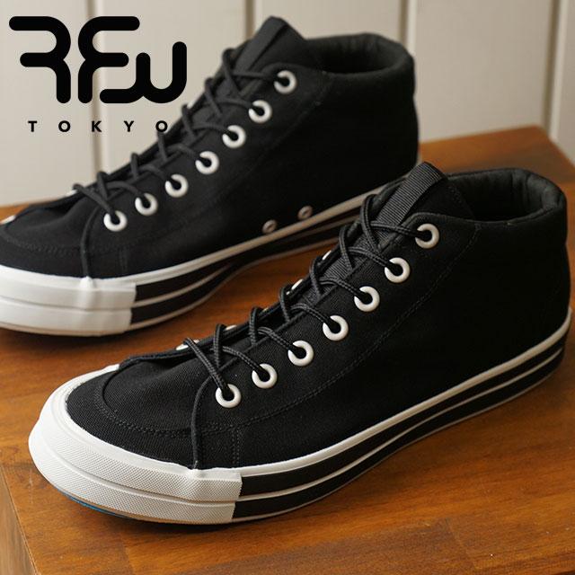【月間優良ショップ】RFW アールエフダブリュー リズムフットウェア メンズ・レディース スニーカー 靴 BAGEL-MID STANDARD ベーグル ミッド スタンダード Black ブラック (R-1812031 SS18)【ts】