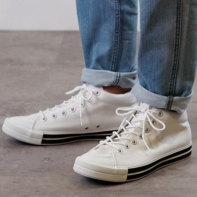 【即納】RFW アールエフダブリュー リズムフットウェア メンズ・レディース スニーカー 靴 BAGEL-MID STANDARD ベーグル ミッド スタンダード White ホワイト (R-1812031 SS18)【コンビニ受取対応商品】