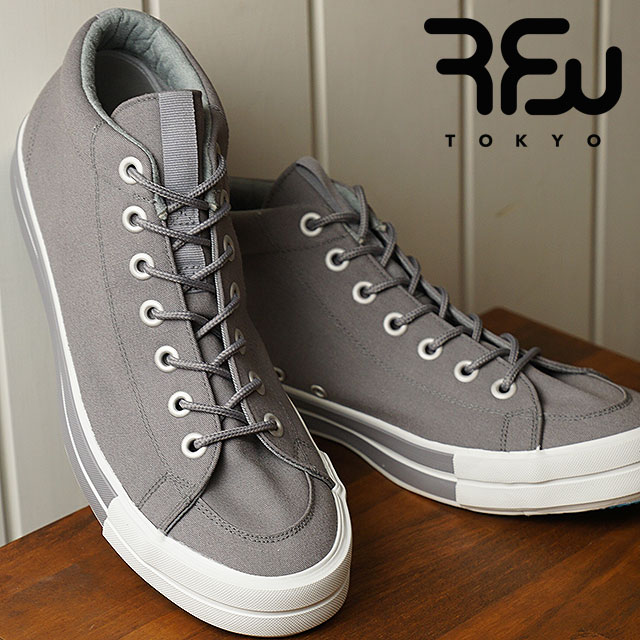 RFW アールエフダブリュー リズムフットウェア メンズ・レディース スニーカー 靴 BAGEL-MID STANDARD ベーグル ミッド スタンダード Grey グレー (R-1812031 SS18)【ts】【e】