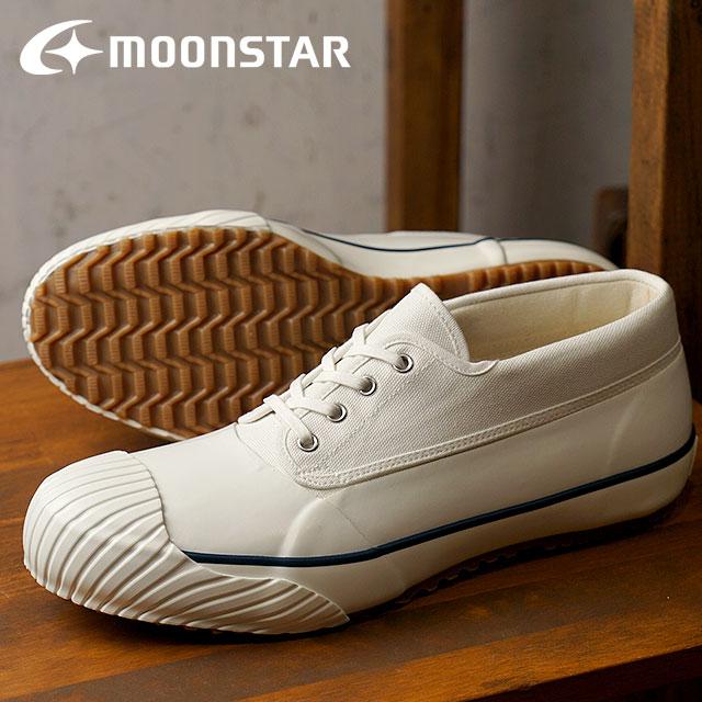 【即納】Moonstar FINE VULCANIZED ムーンスター ファインバルカナイズド メンズ・レディース 日本製スニーカー 靴 MUDGUARD マッドガード OPWHITE (54320849 SS18)【コンビニ受取対応商品】