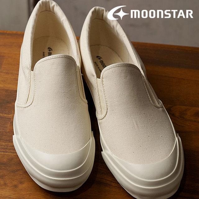 【12/31 14時まで!ポイント10倍】Moonstar FINE VULCANIZED ムーンスター ファインバルカナイズド メンズ・レディース 日本製スニーカー 靴 ARC SIDEGOA サイドゴア NATURAL (54321008 SS18)【コンビニ受取対応商品】