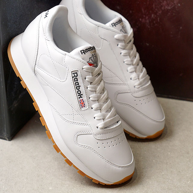 2572cc32985 Reebok CLASSIC Reebok classical music sneakers shoes CL LEATHER classical  music leather Lady s WHITE GUM (49799 SS18)