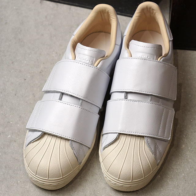 big sale 6e2e9 06817 adidas Adidas sneakers shoes Lady's originals SS 80s VELCRO W superstar  eighty Velcro women R white /R white / linen S17 (CQ2447 SS18)