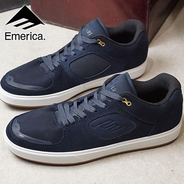 【在庫限り】EMERICA エメリカ スニーカー 靴 REYNOLDS G6 レイノルズ G6 スケシュー スケートシューズ NAVY/WHITE/GUM (SS18)【ts】【コンビニ受取対応商品】