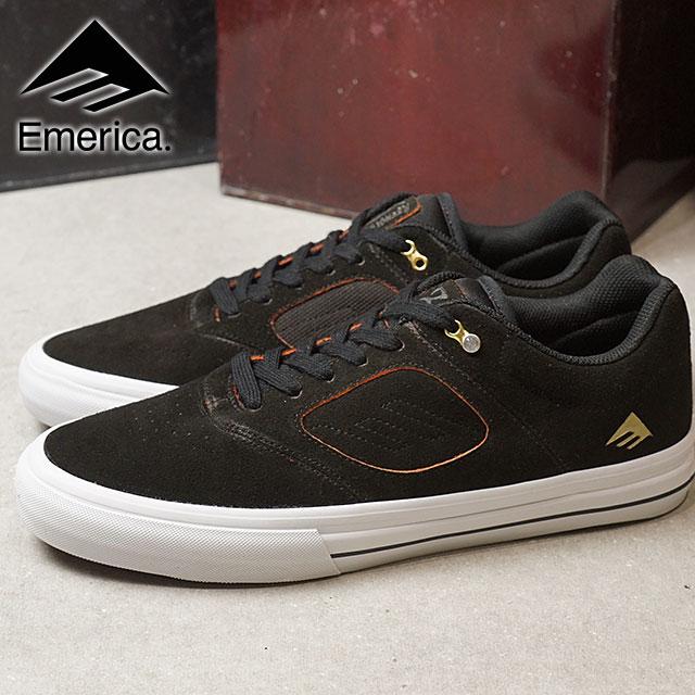EMERICA エメリカ スニーカー 靴 REYNOLDS 3 G6 VULC レイノルズ3 G6 バルカ スケシュー スケートシューズ GREY/ORANGE (SS18)【ts】【e】