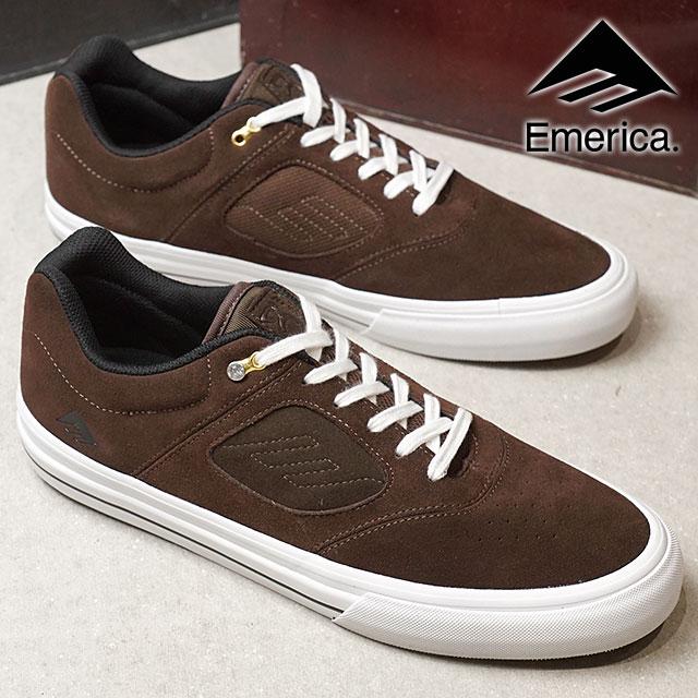 EMERICA Eymet Rika sneakers shoes REYNOLDS 3 G6 VULC Reynolds 3 G6  バルカスケシュースケートシューズ BROWN WHITE (SS18) 89613c628