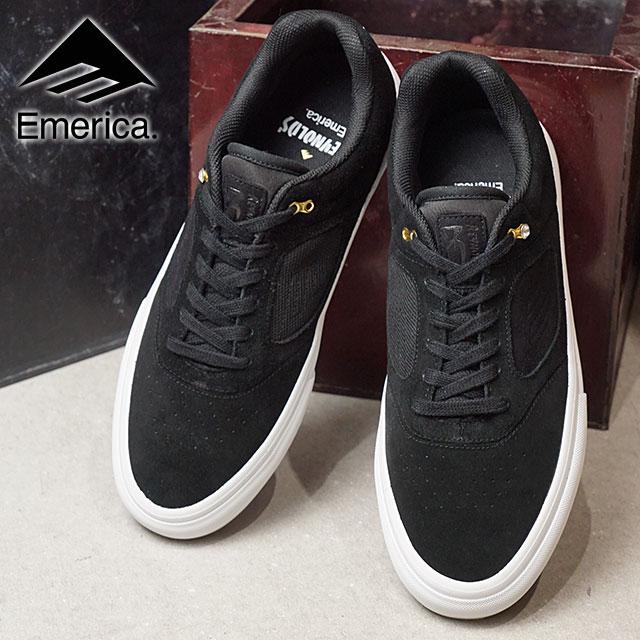 EMERICA Eymet Rika sneakers shoes REYNOLDS 3 G6 VULC Reynolds 3 G6  バルカスケシュースケートシューズ BLACK WHITE GOLD (SS18) 2f55f289a