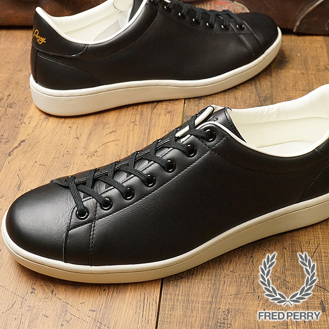 8d285bbf474 FRED PERRY Fred Perry sneakers shoes men Lady's BREAUX LEATHER blow leather  BLACK (F19682- ...