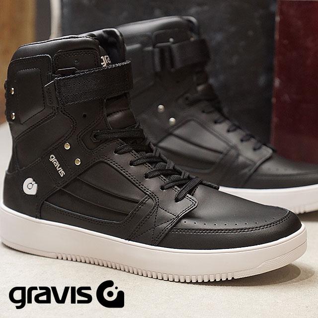 【即納】gravis グラビス スニーカー 靴 メンズ BARBADOS バルバドス BLACK ブラック (11170 SS18)【コンビニ受取対応商品】