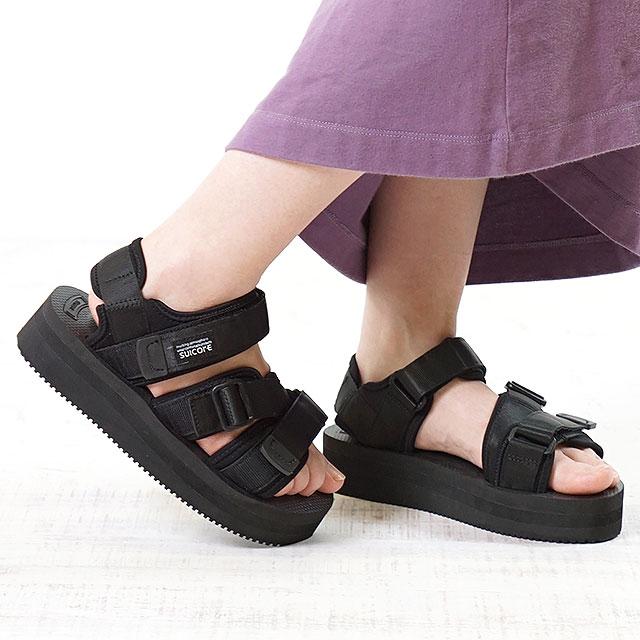 【即納】SUICOKE スイコック サンダル 靴 レディースKISEE-VPO 厚底 ビブラムソールサンダル 靴 BLACK ブラック (OG-044VPO SS18)【コンビニ受取対応商品】