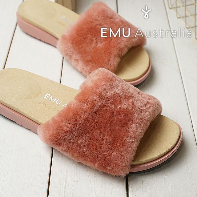 【在庫限り】emu エミュー ムートン スリッパサンダル 靴 レディース ROBE ローブ BLUSH PINK (W11801 SS18)【ts】【コンビニ受取対応商品】