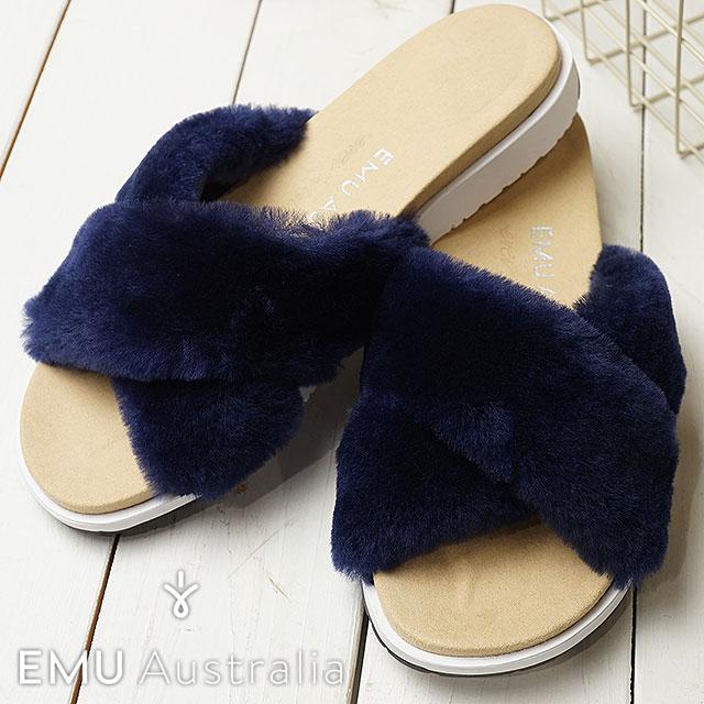 【在庫限り】emu エミュー ムートン スリッパサンダル 靴 レディース MAREEBA マリーブ OCEAN BLUE (W11800 SS18)【ts】【コンビニ受取対応商品】