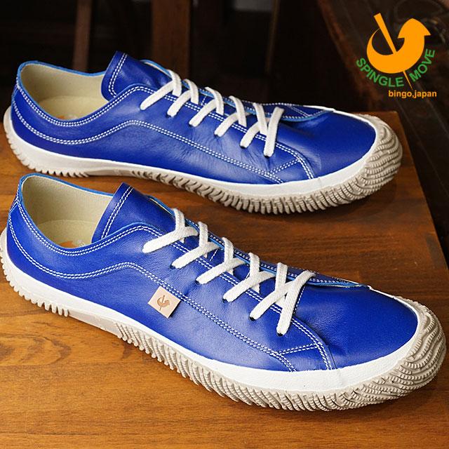 【即納】【返品送料無料】SPINGLE MOVE スピングルムーブ メンズ・レディース カンガルーレザー スニーカー 靴 SPM-110 スピングル ムーヴ Blue (SPM110-38 SS18)【コンビニ受取対応商品】