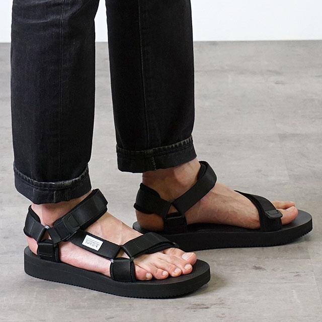 b24d0b21dde8b9 Sui cook SUICOKE strap sports sandals vibram DEPA-V2 shoes men Lady s BLACK  (OG-022V2 SS18)