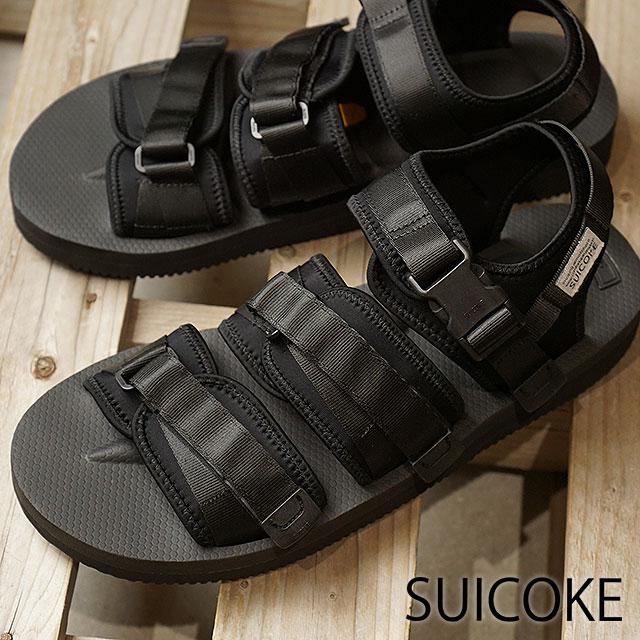 09cd34bbe96 Sui cook SUICOKE strap sports sandals vibram GGA-V shoes men Lady s BLACK  (OG-052V SS18)