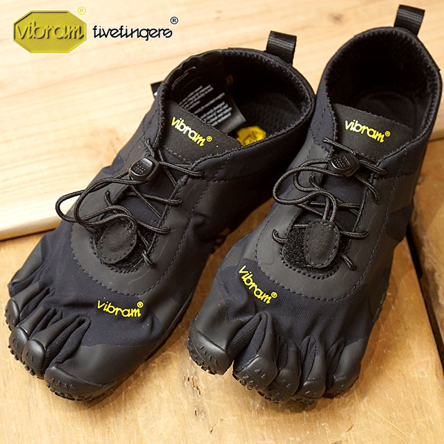 ビブラムファイブフィンガーズ レディース Vibram FiveFingers オールラウンド アウトドア 5本指シューズ V-ALPHA ベアフット 靴 Black (18W7101 SS18)【コンビニ受取対応商品】