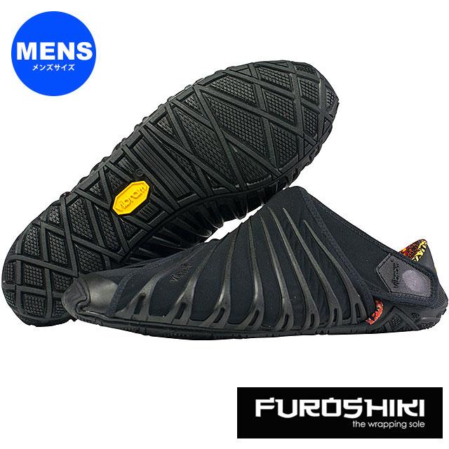 ビブラム フロシキ シューズ メンズ Vibram FUROSHIKI shoes スニーカー ビブラムソール 靴 Black (18MAD06 SS18)【コンビニ受取対応商品】