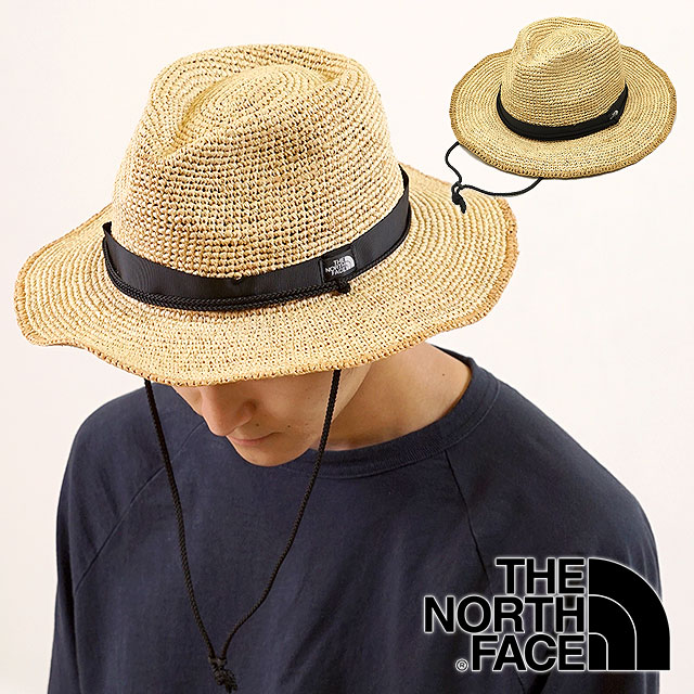 07cc7005a THE NORTH FACE the North Face men Lady's straw hat Raffia Hat raffia hat  straw hat (NN01554 SS18)