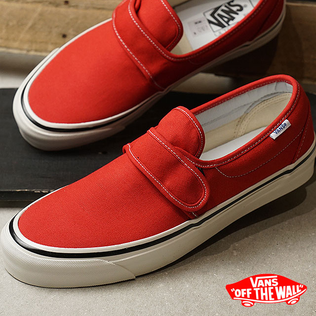 b89f5dc7db975 VANS vans men sneakers shoes Anaheim Factory Slip-On 47V DX Anaheim slip-on  47 Velcro DX slip-ons og red red (VN0A3MVAR3V SS18)
