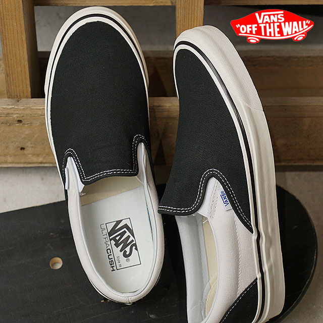 9bd19454d36 VANS vans men sneakers shoes Anaheim Factory Classic Slip-On 98 DX Anaheim  classical music slip-on 98 DX slip-ons black white black (VN0A3JEXQF6 SS18)