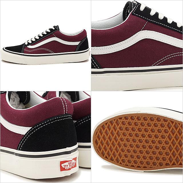 47475880610 VANS vans men sneakers shoes Anaheim Factory Old Skool 36 DX Anaheim old  school 36 DX black og burgundy black   bar Gandhi (VN0A38G2R1U SS18)