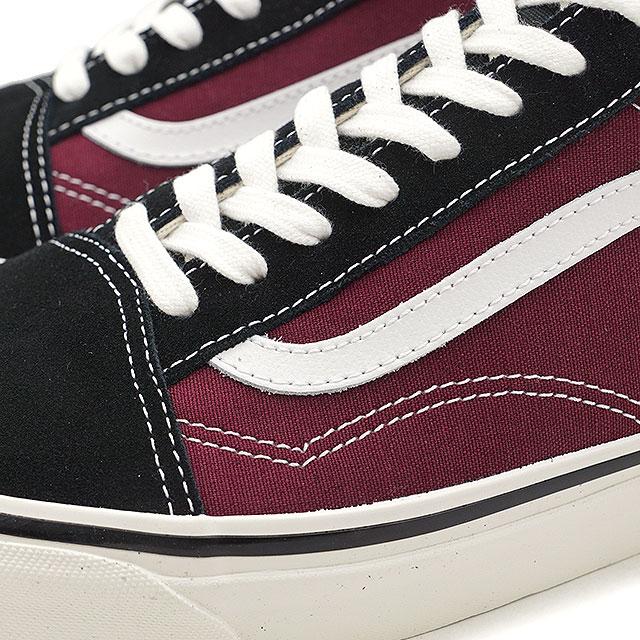 82be54c4d1463f VANS vans men sneakers shoes Anaheim Factory Old Skool 36 DX Anaheim old  school 36 DX black og burgundy black   bar Gandhi (VN0A38G2R1U SS18)