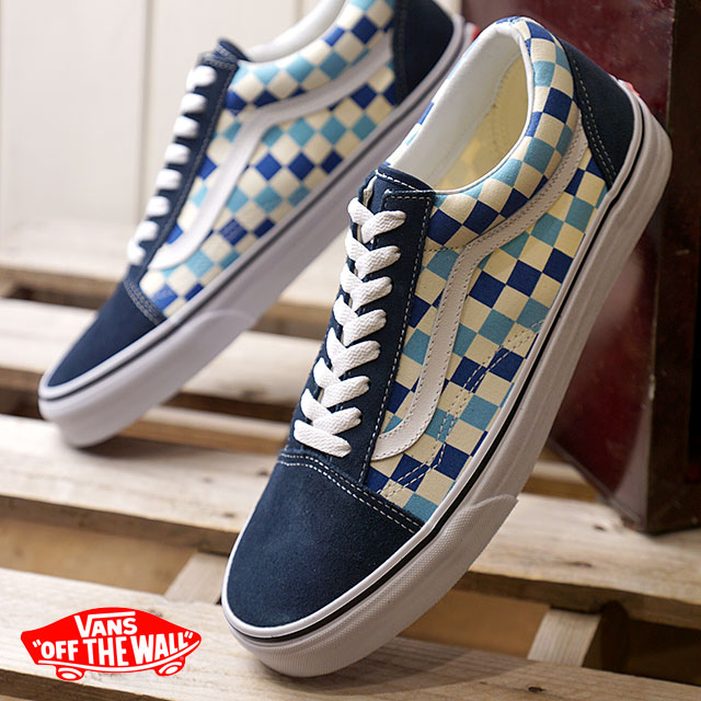 6ecd367667 VANS vans men sneakers shoes Checkerboard Old Skool checkerboard old school blue  topaz blue blue (VN0A38G1QCM SS18)