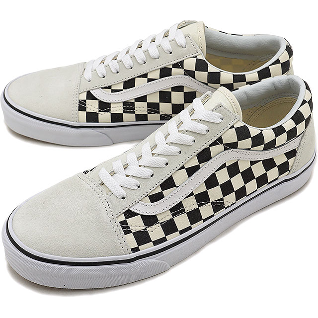 VANS vans men sneakers shoes Checkerboard Old Skool checkerboard old school  white/black white / black (VN0A38G127K SS18)