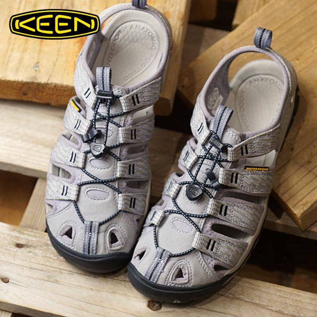 【サイズ交換無料】KEEN キーン サンダル 靴 レディース W CLEARWATER CNX クリアウォーター シーエヌエックス Dapple Grey/Dress Blue (1018498)