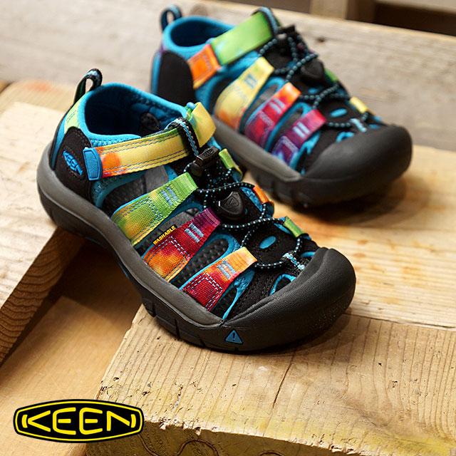 c82903ccdfd SHOETIME  KEEN Kean sandal kids NEWPORT H2 Newport H two Rainbow Tie ...