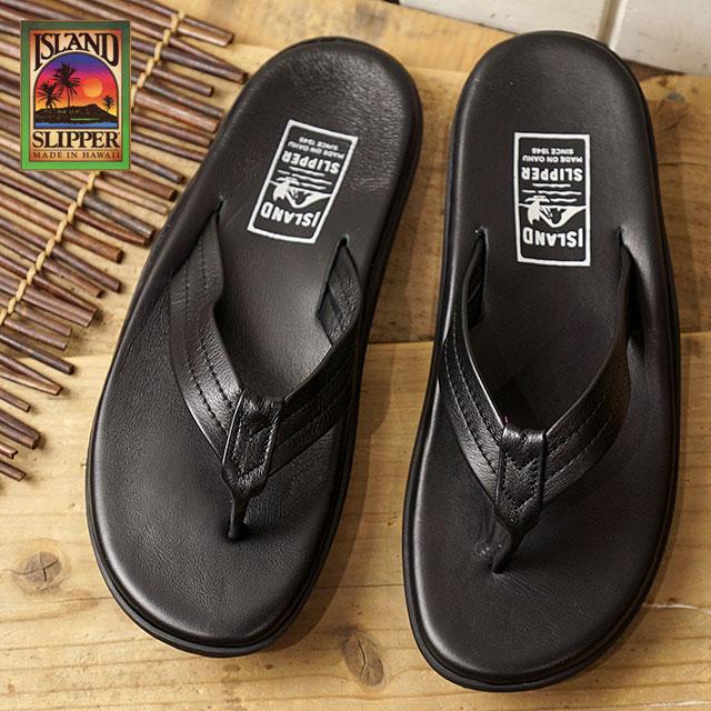 【ラスト1足/26.0cm】ISLAND SLIPPER アイランドスリッパ メンズ PB202 レザーサンダル 靴 トング ビーチサンダル 靴 BLACK ブラック (PB202 SS18)【ts】【e】【コンビニ受取対応商品】