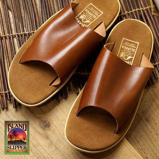 【月間優良ショップ】【ハワイ製】ISLAND SLIPPER アイランドスリッパ メンズ PTS705 レザーサンダル 靴 スリッパサンダル 靴 COGNAC (PTS705)