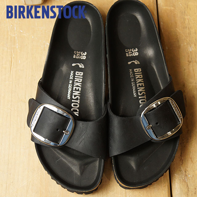 2a324885967 BIRKENSTOCK ビルケンシュトックサンダル shoes Lady's Madrid Big Buckle Madrid big buckle  Black (GC1006523 SS18 ...