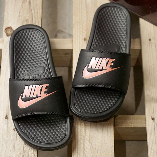 1f11259e0649 NIKE Nike Lady s sandal WMNS BENASSI JDI ウィメンズベナッシ JDI black   Rose gold  (343