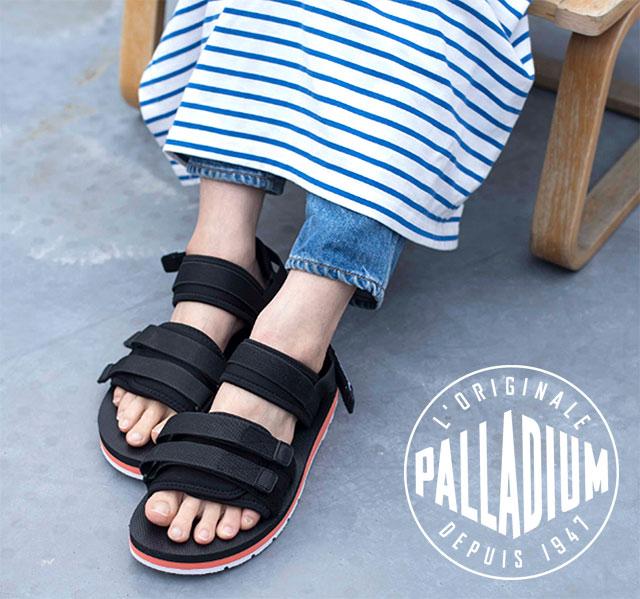 d5dc6e1d03d PALLADIUM palladium OUTDOORSY SANDAL outdoor sandals men Lady s shoes  BLK ORG WHT (75