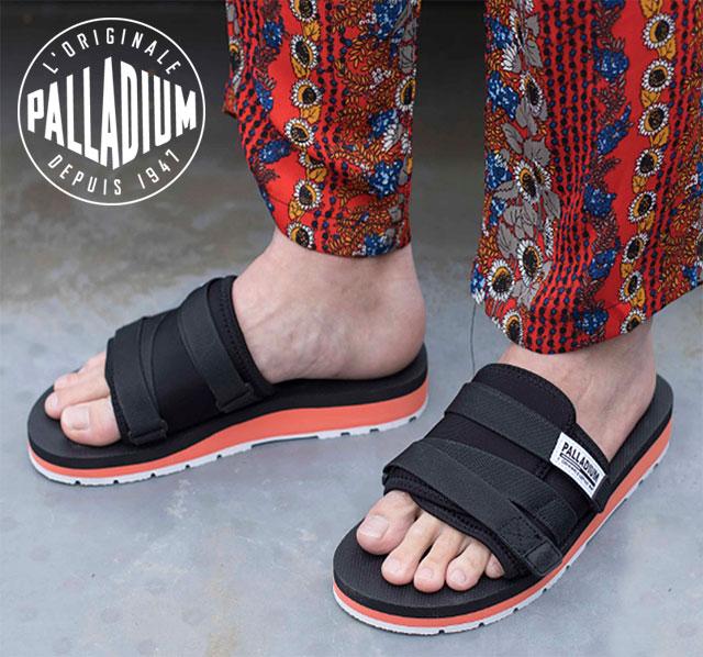 a6d06e06c56 PALLADIUM palladium OUTDOORSY SLIDE SANDAL outdoor slide sandals men Lady s  shoes BLK ORG WHT (75