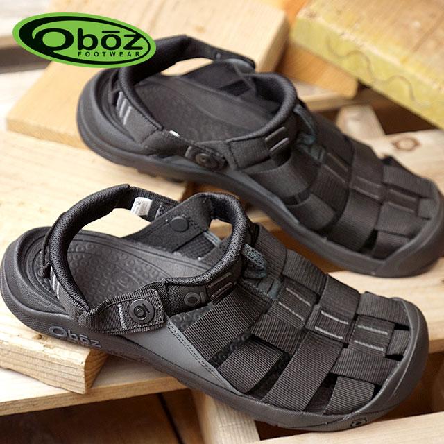 Oboz オボズ サンダル スポーツサンダル 靴 MNS Campster メンズ キャンプスター Black (60501 SS18)